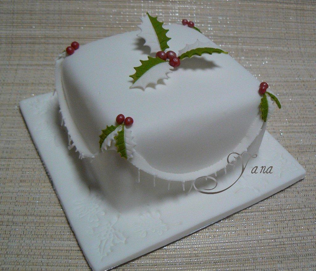 Small Christmas Cake Images : Mini Christmas Cakes