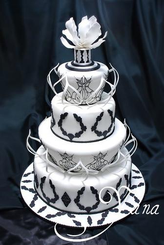 Images Of Black And White Cake : Black and White Wedding Cake